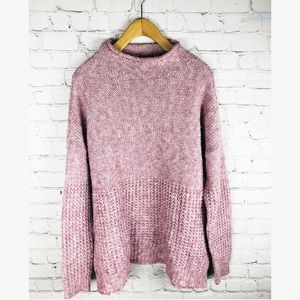 American Eagle high neck pink knit sweater large